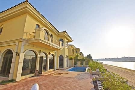 4 Bedroom Villa for Rent in Palm Jumeirah, Dubai - 4BR+Maids+Study | Atlantis view | Pvt beach