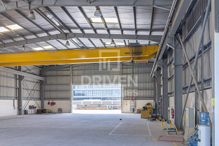 2 Well-managed Industrial Warehouse with Crane