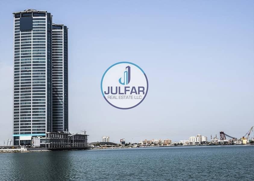 1 BR   Sea View  No Balcony  Julphar Towers