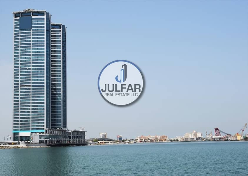 Partial Sea View Office FOR RENT in Julphar Tower.