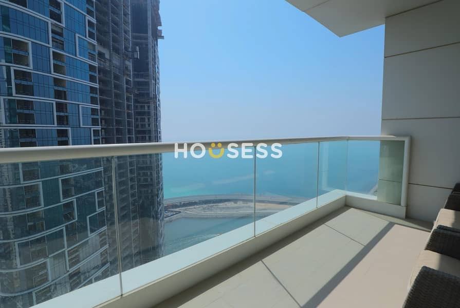 2 Stunning Sea View | Fully Furnished | 2BR+Maids