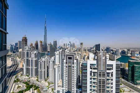 4 Bedroom Penthouse for Sale in Business Bay, Dubai - Amazing view of Burj Khalifa Duplex Penthouse