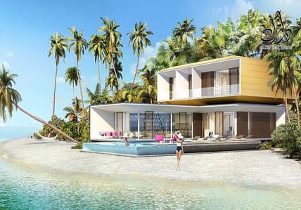 5 Bedroom Villa for Sale in The World Islands, Dubai - own a German villa in the heart of the world islands and enjoyed a quiet life in the island of dreams.
