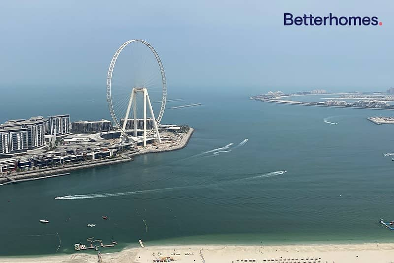 FULL SEA | SUNSET AND DUBAI EYE VIEW | VACANT