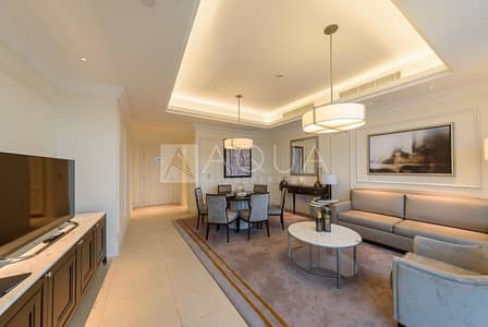 2 Bedroom Hotel Apartment for Rent in Downtown Dubai, Dubai - Luxury I Vacant I All Inclusive | High Floor