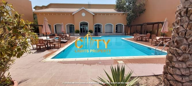 3 Bedroom Villa for Rent in Al Mushrif, Abu Dhabi - Lovely 3MBR Villa in a Compound with Swimming Pool