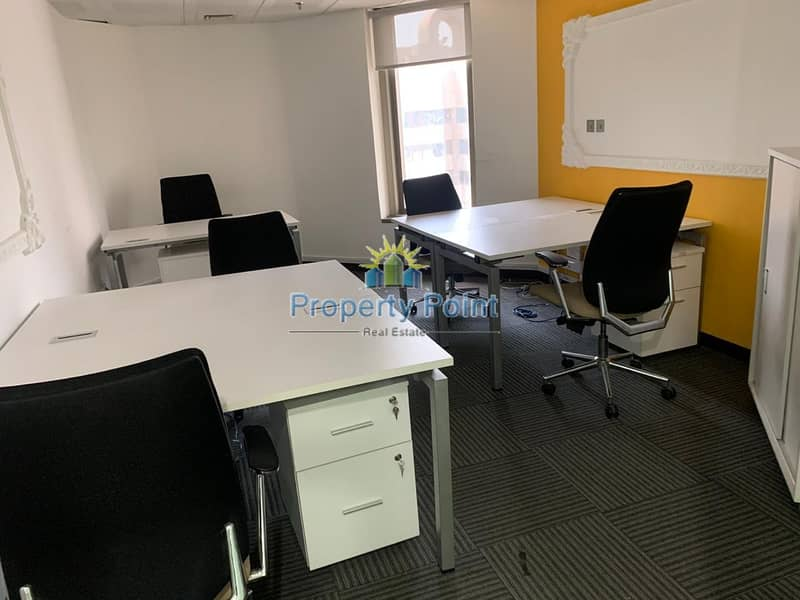 No Commission | 150 SQFT Office Space in a Business Center | Hamdan Sreet