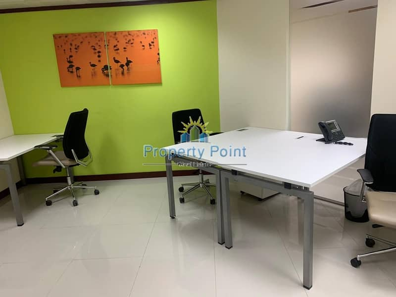 2 No Commission | 150 SQFT Office Space in a Business Center | Hamdan Sreet