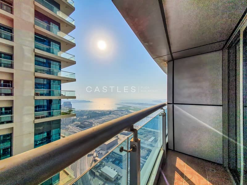 2 PARTIAL SEA-VIEW HIGH FLOOR | 1 BR | Unfurnished