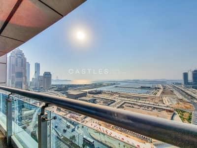 شقة 2 غرفة نوم للايجار في دبي مارينا، دبي - High Floor Fully Furnished   2 Bedroom