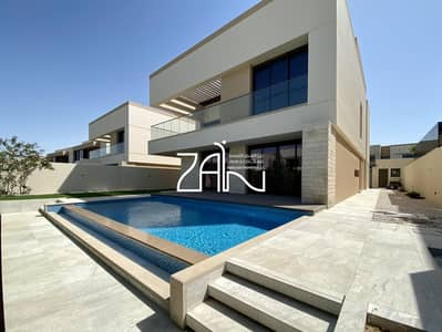 5 Bedroom Villa for Sale in Saadiyat Island, Abu Dhabi - Elegant 5 BR Type 6 Close to Open Beach with Private Pool