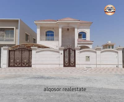 5 Bedroom Villa for Sale in Al Rawda, Ajman - Villa for sale in Ajman, Al Rawda area, with central air conditioning, with the possibility of bank financing