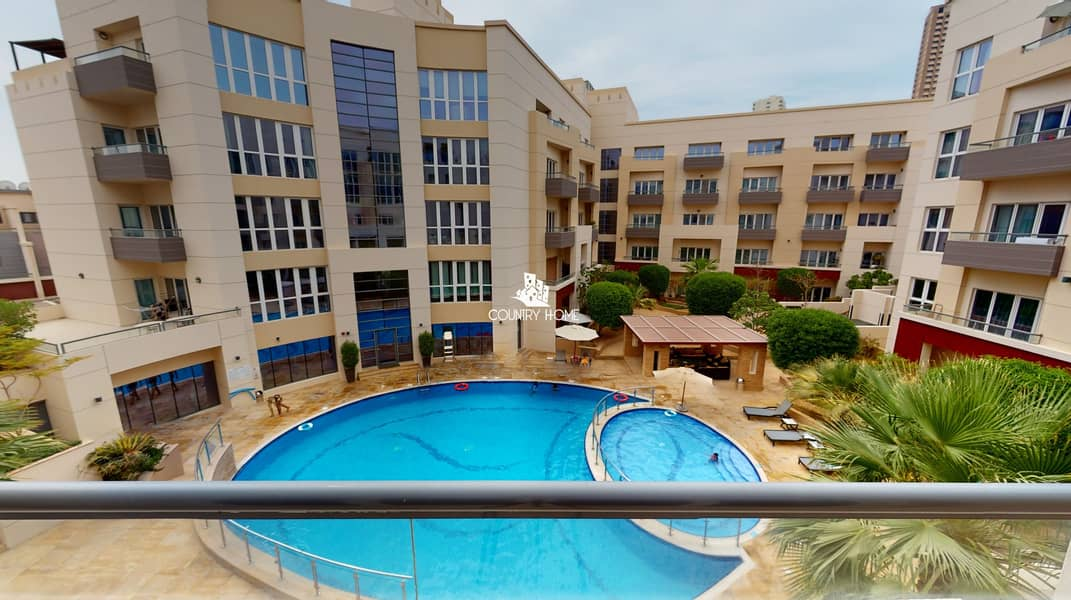 21 1 BED Furnished | flexible Chqs|Pool View