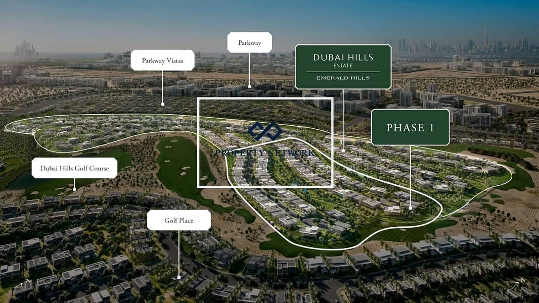 11 Villa Plot in Golf Course Community with Park View