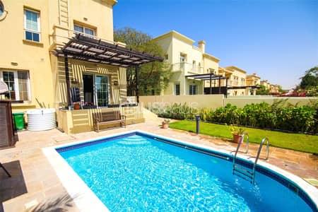 فیلا 3 غرف نوم للايجار في الينابيع، دبي - Upgraded | Rare Villa | Pool | Basement|