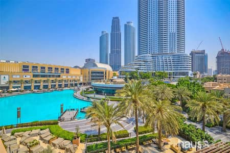 2 Bedroom Apartment for Rent in Downtown Dubai, Dubai - Lake view | Huge Terrace | Available