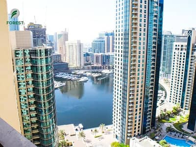 2 Bedroom Apartment for Rent in Jumeirah Beach Residence (JBR), Dubai - Vacant | 2 Bedroom | Marina View | Unfurnished