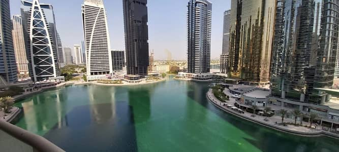 2 Bedroom Apartment for Rent in Jumeirah Lake Towers (JLT), Dubai - Beautiful Lake View 2BHK For Rent Front of Metro station