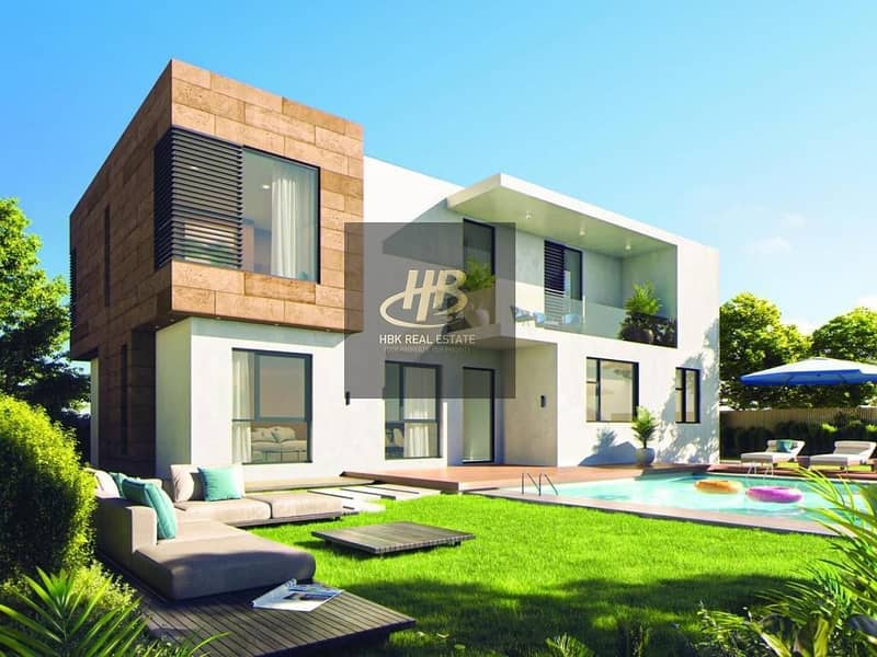 Own a 5BR Villa and a ready hall without service fees and maintenance for life