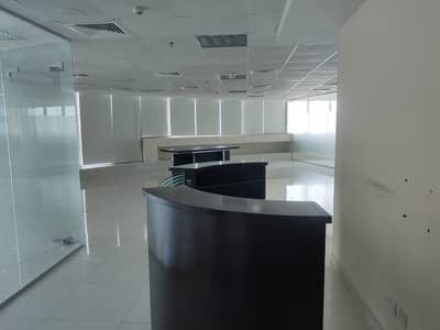 Office for Rent in Jumeirah Lake Towers (JLT), Dubai - NEXT TO METRO|NICELY PARTITIONED|HIGH FLOOR
