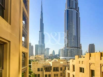 شقة 2 غرفة نوم للايجار في المدينة القديمة، دبي - Full Burj View | Unfurnished | Two Bedrooms