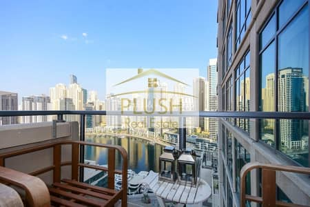 فلیٹ 1 غرفة نوم للايجار في دبي مارينا، دبي - Stunning lake view | chiller free | fitted kitchen | Exclusive