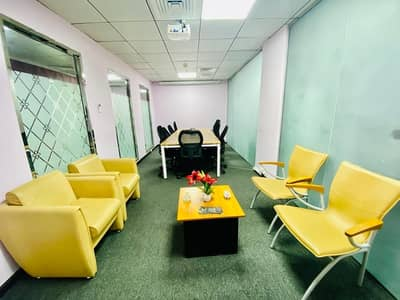 Office for Rent in Al Danah, Abu Dhabi - Luxurious Serviced Offices at Premium Location in Muroor Road