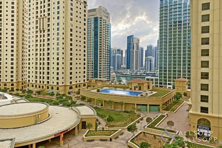 1 Bedroom Flat for Rent in Jumeirah Beach Residence (JBR), Dubai - Full Marina View | Furnished | 1 Bedroom