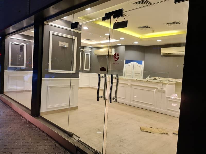 Shop Available for Rent in Abu Dhabi City with Excellent Location and Main Road View