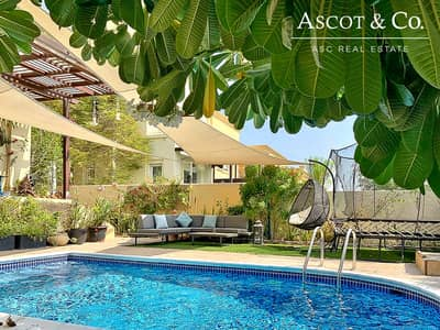 فیلا 3 غرف نوم للايجار في الينابيع، دبي - Lake View|Private Pool|Basement|Upgraded