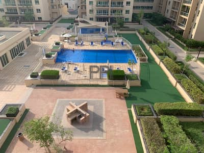 2 Bedroom Apartment for Rent in The Greens, Dubai - Pool view|2BHK+Study Apartment in greens