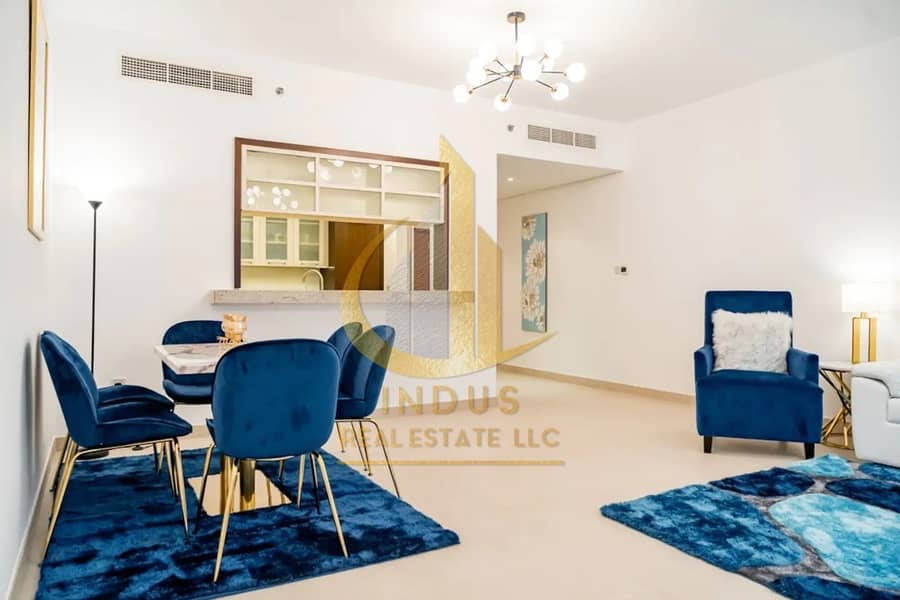 2 Fully Furnished & Spacious | Vacant | Fountain View | 2BR+2 Balconies
