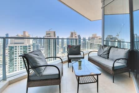 3 Bedroom Apartment for Rent in Dubai Marina, Dubai - FULL MARINA VIEW HIGHER FLOOR FURNISHED 3BR