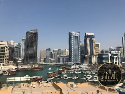 Studio for Rent in Dubai Marina, Dubai - LARGE STUDIO | FULL MARINA VIEW | LOW FLOOR