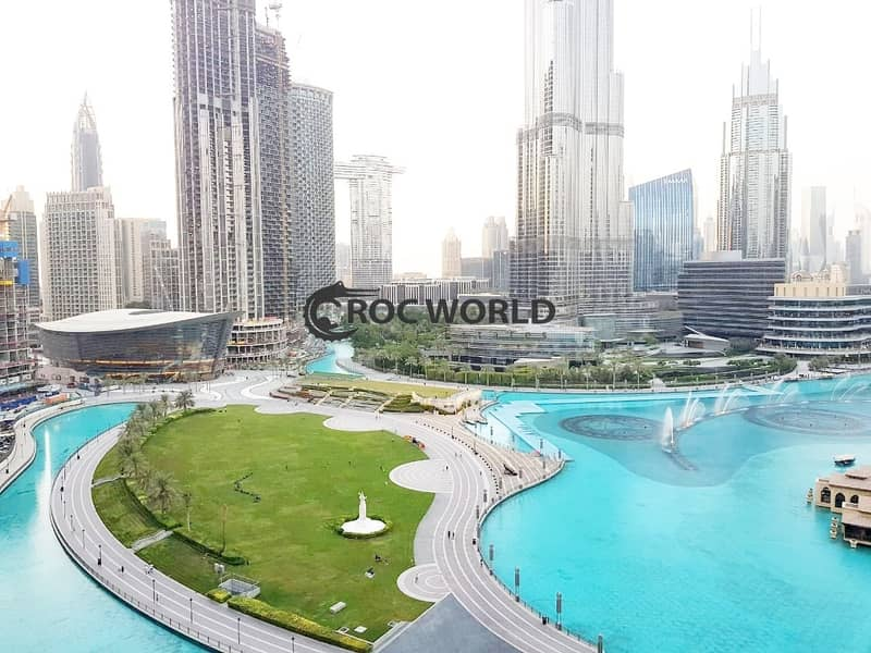 2 3 BR+Maids|Fully Furnished|Burj Khalifa & Fountain View