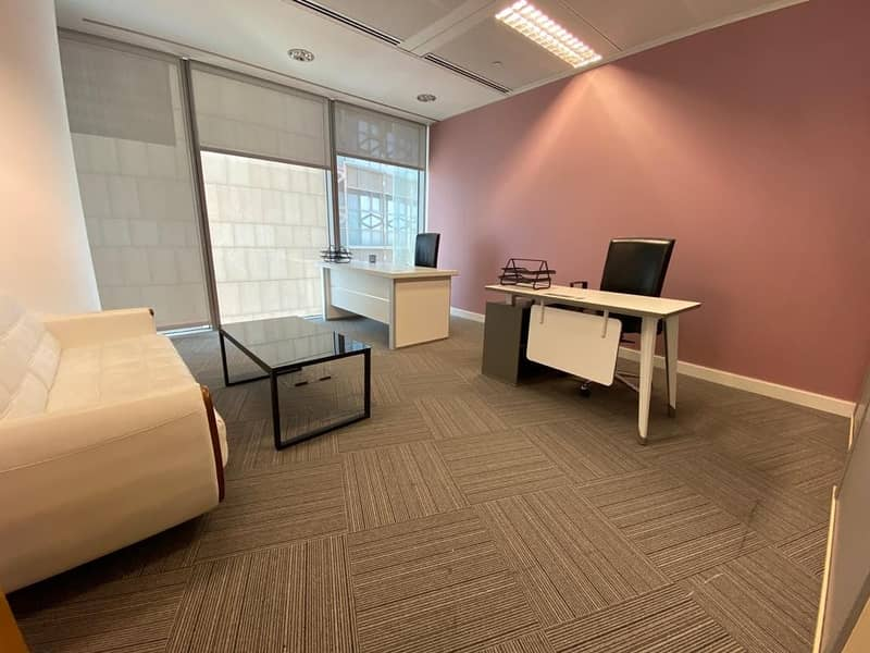 Best for 4! Luxury Office With High View In Burjuman Business Center