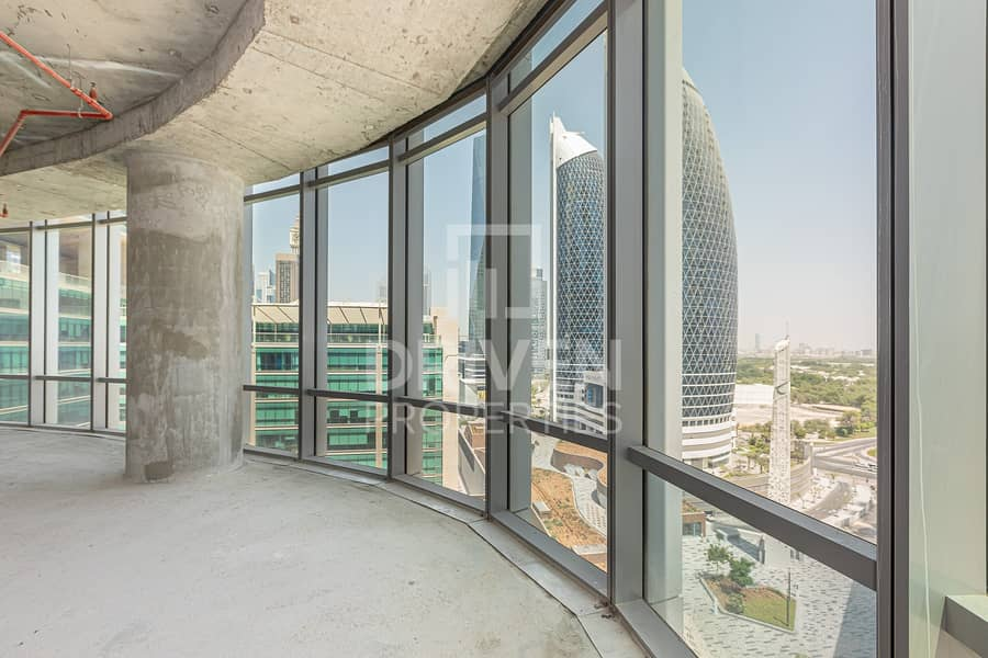 2 Shell and Core with Full View of Burj Khalifa