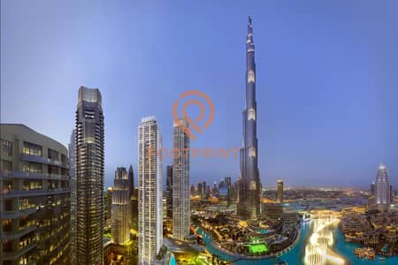 3 Bedroom Apartment for Sale in Downtown Dubai, Dubai - 3 Bedrooms at Grande Signature facing Burj Khalifa