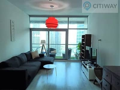 2 Bedroom Apartment for Rent in Jumeirah Lake Towers (JLT), Dubai - 2 BR | Facing the Lake | Huge Balcony | Furnished