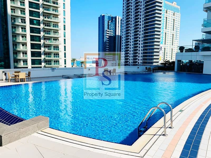11 Excellent Sea Facing 1BR Apt with Balcony  & Close Kitchen