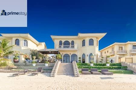 5 Bedroom Villa for Rent in Palm Jumeirah, Dubai - Stylish 5BR Villa with Private Beach Access