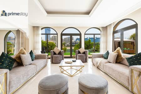 6 Bedroom Villa for Rent in Palm Jumeirah, Dubai - Stunning 6BR Villa with Private Pool in Palm