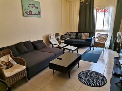 1 Bedroom Flat for Rent in International City, Dubai - FULLY FURNISHED 1BED ROOM FOR RENT IN INDIGO 1 - INTERNATIONAL CITY - 48000 /-