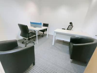 No Commission! Well furnished  office 30000 AED only with all facilities linked with metro.