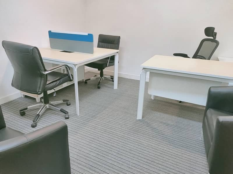 2 No Commission! Well furnished  office 30000 AED only with all facilities linked with metro.