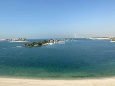 شقة 2 غرفة نوم للايجار في نخلة جميرا، دبي - Amazing  Sea View|High Floor| Furnished 2 BR+ Maid