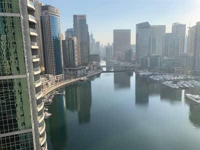 شقة 2 غرفة نوم للبيع في دبي مارينا، دبي - Full Marina View 2 BR in Marina Wharf 1