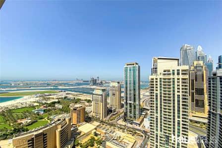 فلیٹ 1 غرفة نوم للبيع في دبي مارينا، دبي - Large One Bed | Vacant | Full Sea Views