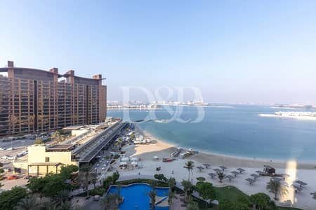 3 Bedroom Flat for Rent in Palm Jumeirah, Dubai - Large Balcony | Maids | Sea View | High Floor