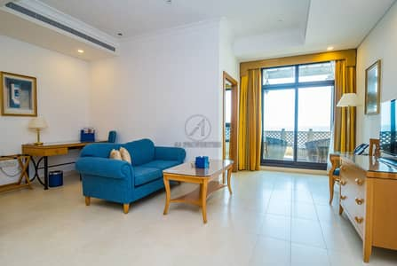 1 Bedroom Apartment for Rent in Jumeirah, Dubai - Sea View |Fully Furnished |Beachfront Serviced 1BR